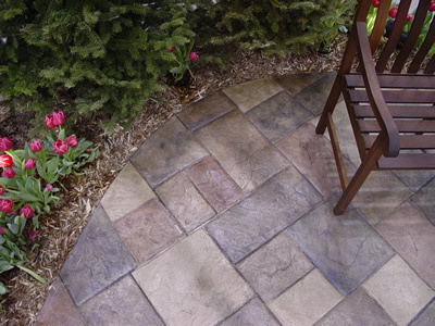 20 stunning cement patio ideas - Stamped Concrete Design Ideas