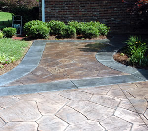 preventing faded stamped concrete