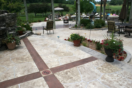 Stamped Pool Deck Photo Gallery - Images of concrete patios