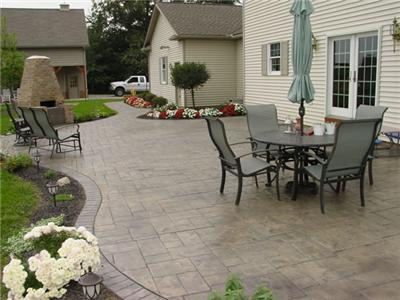 patio designs with constructed in grill