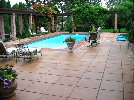 Stamped Concrete Around Pool Classy Photos Of Stamped Concrete Pool Decks