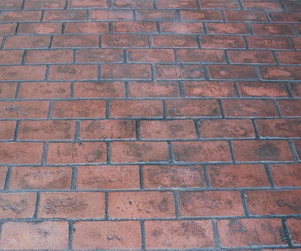 Stamped Concrete Patio Brick Pattern