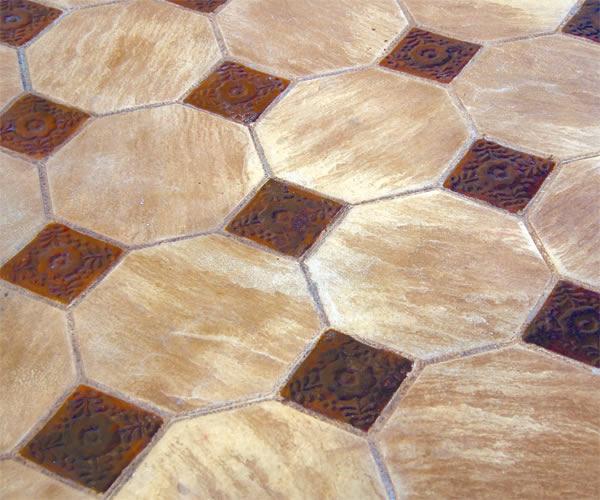 tile stamping stamped concrete pattern details