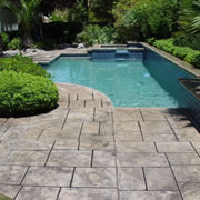 Stamped Concrete Around Pool New Concrete San Antonio
